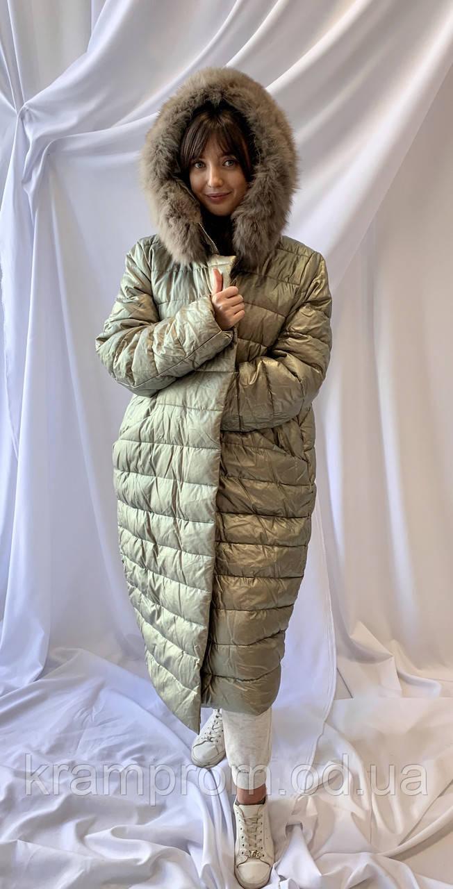 Зимнее удлинённое пальто ZLLY