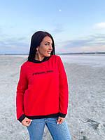 Батник теплая кофта женская с капюшоном ткань двухнить размер: 50-52,54-56, фото 1