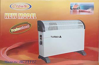 Конвектор/обогреватель с тепловентилятором напольный/настенный Crown HCT 1112