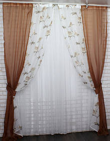 Декоративные шторы из легких и комбинированных тканей. В наличии на СКЛАДЕ!
