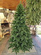 Элитная зеленая 2.3м литая елка искусственная ель литая