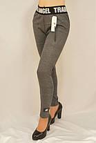 Женские трикотажные лосины на меху M - XL Леггинсы с широким поясом Ao longcom, фото 3