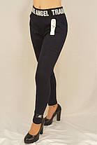 Женские трикотажные лосины на меху M - XL Леггинсы с широким поясом Ao longcom, фото 2