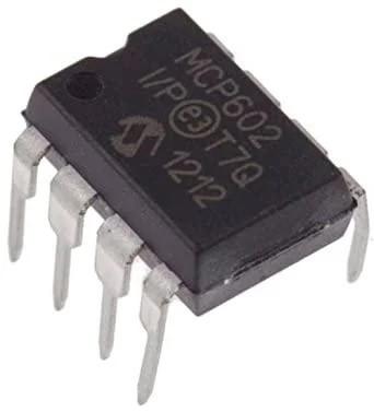 MCP602-I/P, 2-х канальный ОУ с однополярным питанием, 2.7В…5.5В, DIP-8