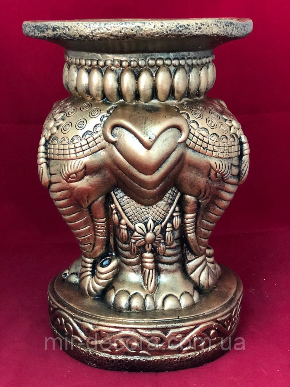 Стол тумба декоративный Слон, комби, 42 см
