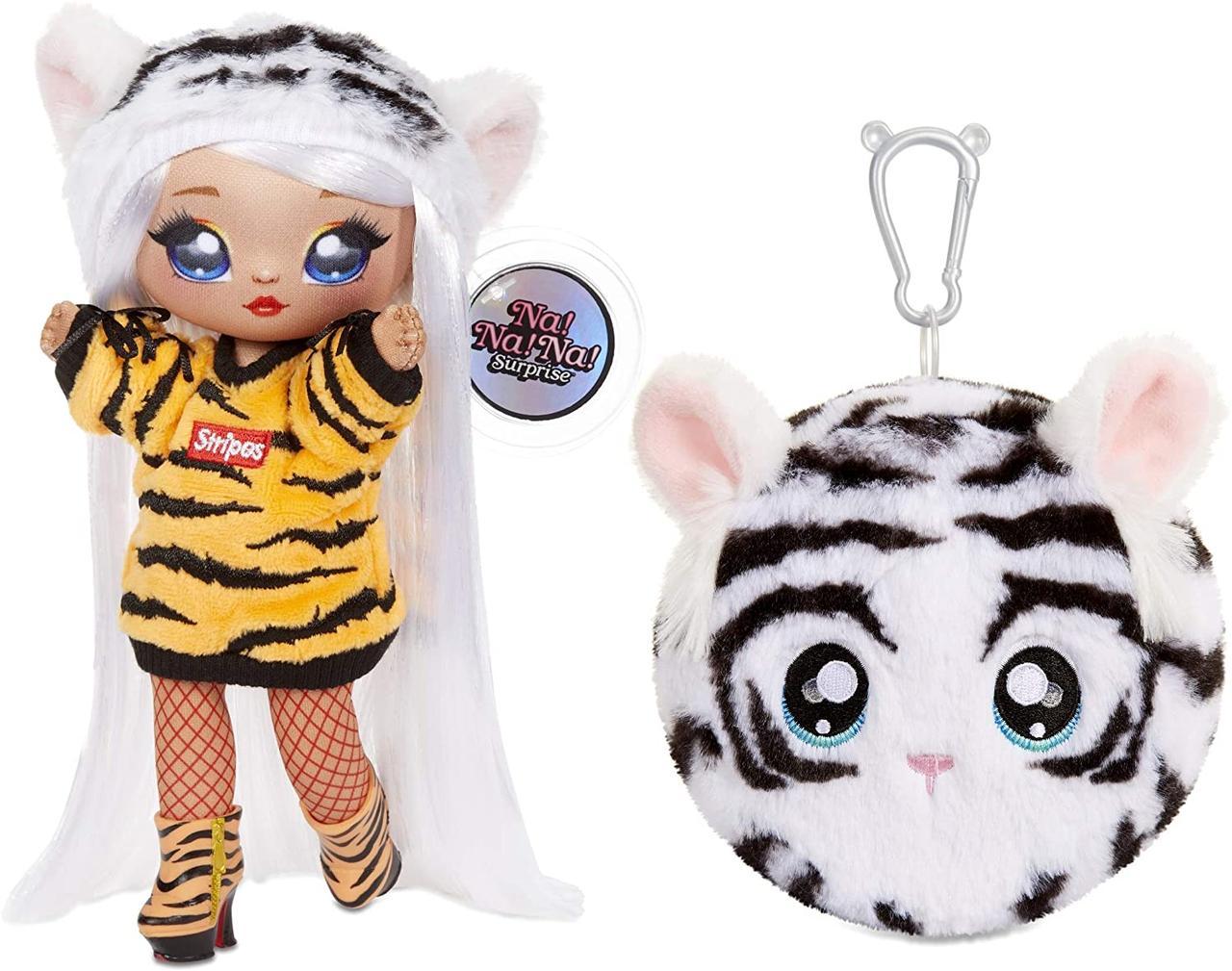 Игровой набор с куклой и мягкой игрушкой Тигр Бьянка Бенгал, 4 сезон, Na! Na! Na! Surprise Bianca Bengal, MGA