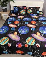 Комплект детского постельного белья Планеты бязь