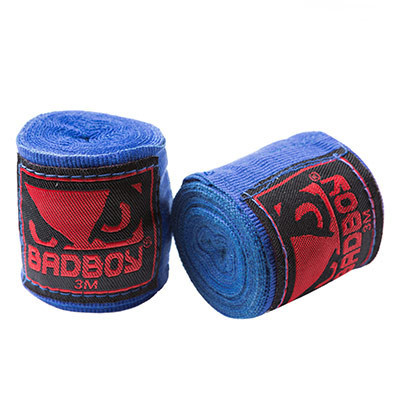 Бинты боксерские BadBoy, 3м синие