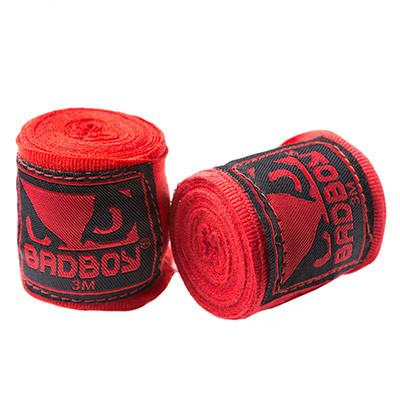 Бинты боксерские BadBoy, 3м красные