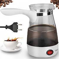 Турка электрическая кофеварка Rainberg RB-616 0.5 л прозрачная