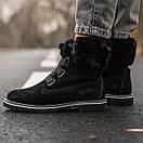 Жіночі уггі Ugg boot Fur Black, фото 3
