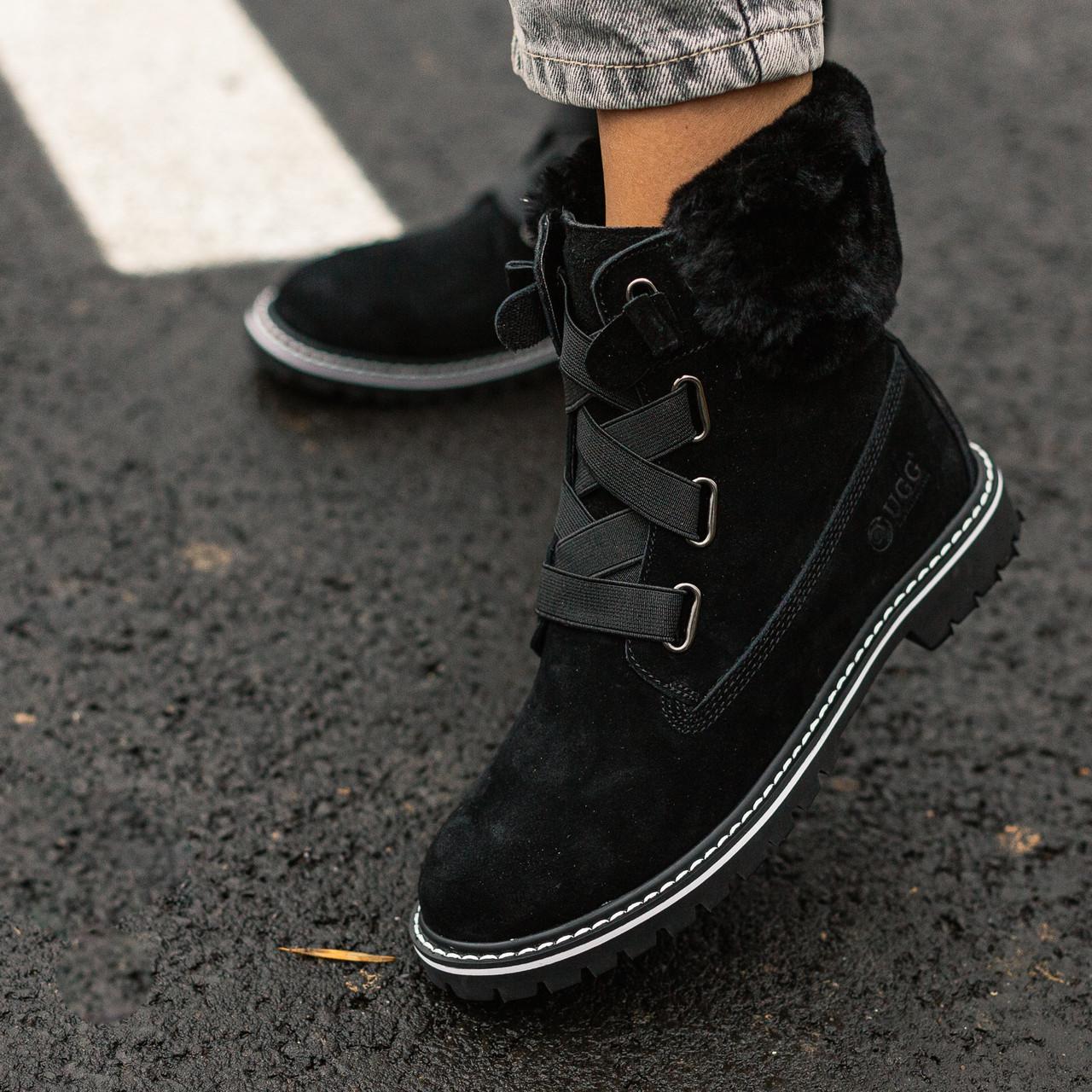Женские угги Ugg boot Fur Black