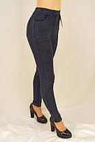Женские джинсы на меху M - XL Джеггинсы зимние утепленные Ao longcom Черный, фото 3