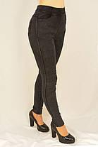 Женские джинсы на меху M - XL Джеггинсы зимние утепленные Ao longcom Черный, фото 2