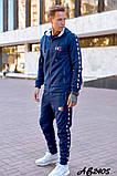Мужской спортивный костюм тройка:кофта,футболка и штаны., фото 4