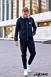 Мужской спортивный костюм тройка:кофта,футболка и штаны., фото 5