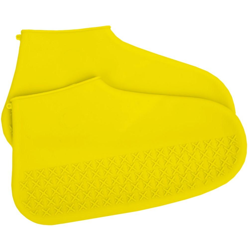 Силиконовые чехлы для обуви от дождя и грязи Желтый L