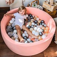 Бассейн для дома сухой, детский, персиковый (диаметр 100 см)