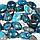 Бусы из апатита неонового самородки, 867БСА, фото 2