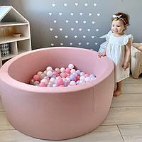 Бассейн для дома сухой, детский, нежно-розовый (диаметр 80 см)
