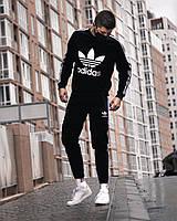 Мужской спортивный костюм Adidas черный свитшот - штаны лето/весна/осень в стиле Адидас