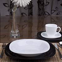 Тарелка суповая квадратная  Luminarc Carine white 230 мм (L5406)