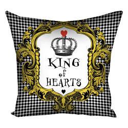 Подушка з принтом King of hearts 30x30, 40x40, 50x50 (3P_WON037)