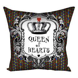 Подушка с принтом Queen of hearts 30x30, 40x40, 50x50 (3P_WON036)