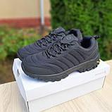 🔥 Зимние кроссовки ботинки мужские Merrell Vibram Чёрный нейлон/мех, фото 5