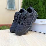 🔥 Зимние кроссовки ботинки мужские Merrell Vibram Чёрный нейлон/мех, фото 10