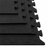 Мат-пазл (ласточкин хвост) Springos Mat Puzzle EVA 120 x 120 x 1.2 cм FM0002 Black. Мат-татами, фото 8