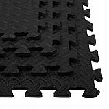 Мат-пазл (ласточкин хвост) Springos Mat Puzzle EVA 120 x 120 x 1.2 cм FM0004 Black. Мат-татами, фото 9