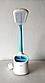 Настільна лампа Tiross TS-1809 white/blue - 6 Вт, 60 Led, фото 3