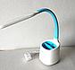 Настільна лампа Tiross TS-1809 white/blue - 6 Вт, 60 Led, фото 4