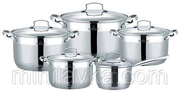 Набор посуды из нержавеющей стали Bohmann BH 600-10 - 10 пр