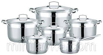 Набор посуды из нержавеющей стали Bohmann BH 600-12 - 12 пр