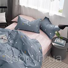 Комплект постельного белья  сатин евро размер 200*220 Bella Villa B- 0263 серый
