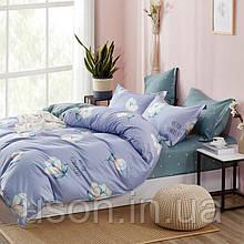 Комплект постельного белья  сатин евро размер 200*220 Bella Villa B- 0267 серый