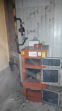 Твердотопливный котел САН ЭКО 17 кВт установленный нашим клиентом Романом г. Запорожье