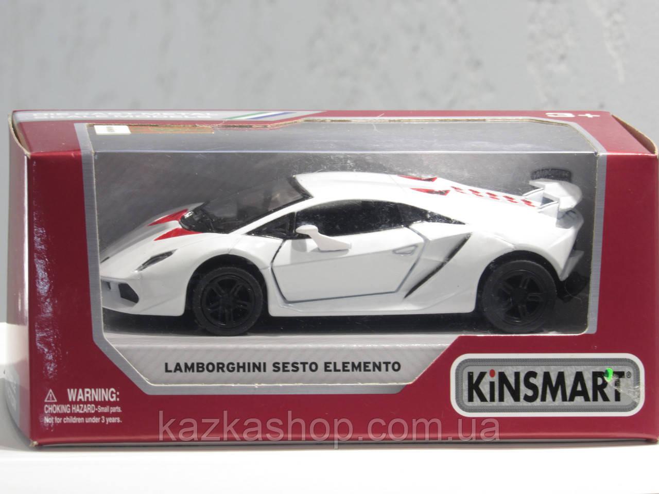 Металлическая машинка Kinsmart LAMBORGHINI SESTO ELEMENTO (KT 5359 WP)