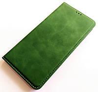 Чохол книжка Leather Book для Xiaomi Redmi Note 8 Зелений