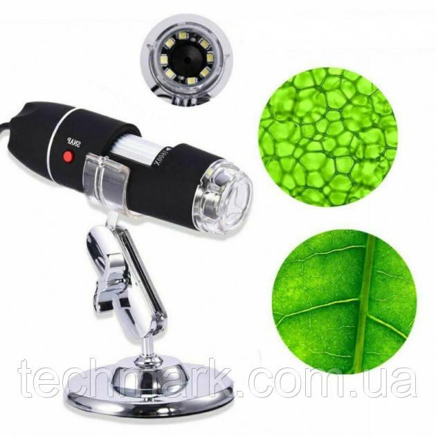 Цифровой микроскоп USB Digital microscope Zoom 25-200X PLUS с LED подсветкой