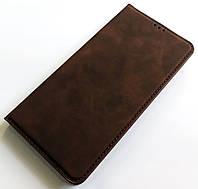Чохол книжка Leather Book для Xiaomi Redmi Note 8 Темно-коричневий