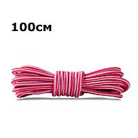 Шнурки для обуви круглые KIWI 100 см бело-красные