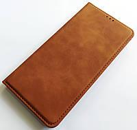 Чохол книжка Leather Book для Xiaomi Redmi Note 8 Коричневий