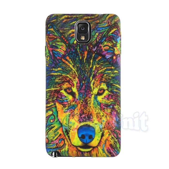 Силиконовый чехол с рельефным рисунком для Samsung Galaxy Note 3