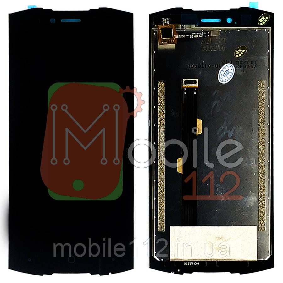 Экран (дисплей) Doogee S55 + тачскрин черный оригинал Китай