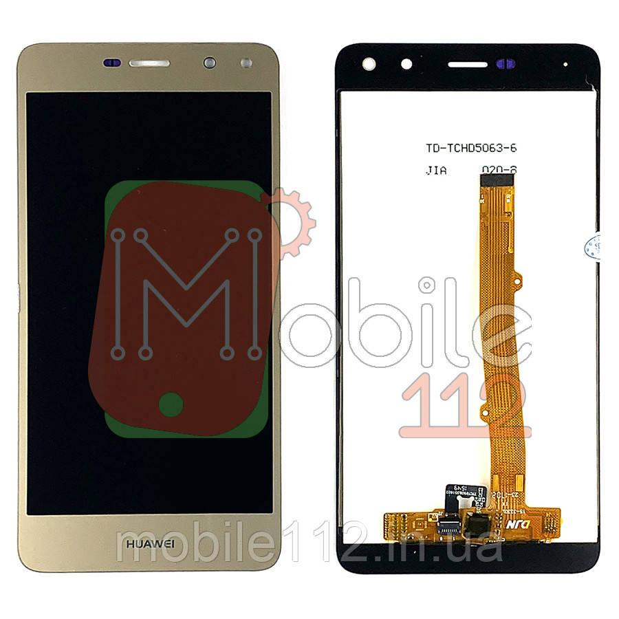 Экран (дисплей) Huawei Y5 2017 MYA-L02, MYA-L22, MYA-U29, Y5 III, Y6 2017, Honor 6 Play 51050NFE + тачскрин золотистый