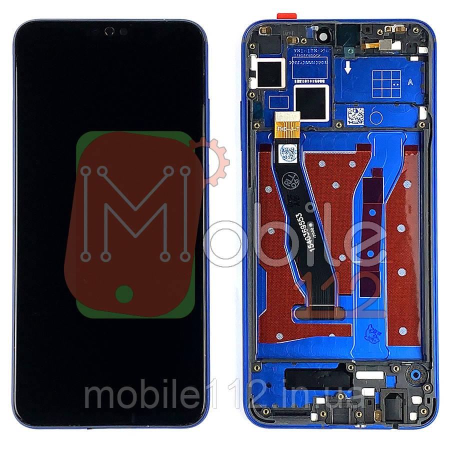 Экран (дисплей) Huawei Honor 8X JSN-L21 L22 L42 L11 L23 AL00 TL00 AL00a + тачскрин черный с передней панелью