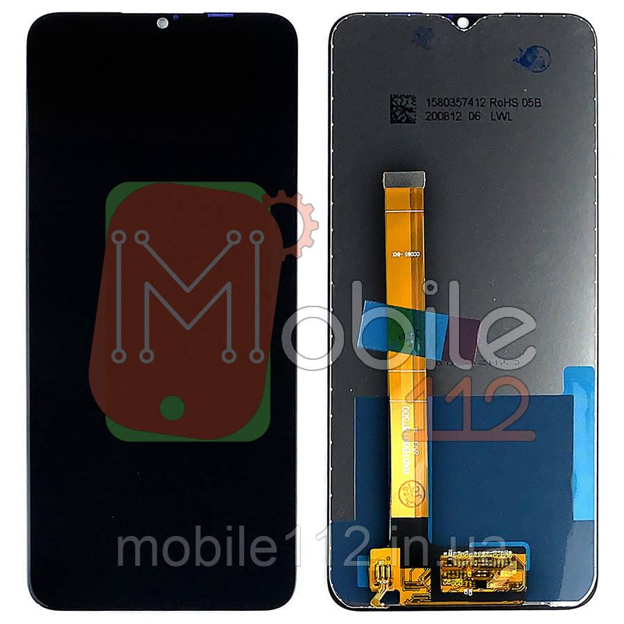 Экран (дисплей) Realme C3 C3S C3i, Oppo A5S + тачскрин черный оригинал Китай